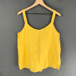 Eileen Fisher Yellow Oversized Tank Top Sz M